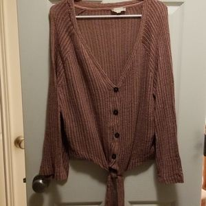 Tie front cardigan